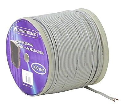 OMNITRONIC Speaker Cable 2x0,75 100m ws NYFAZ by OMNITRONIC