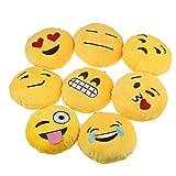 Ukamshop niedlich emoji smiley Kissen Weichen Cartoon gelb Kissen Spielzeug (Schwitzen)