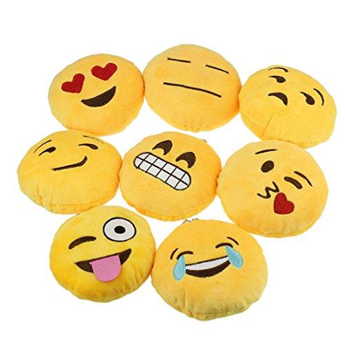 Ukamshop niedlich emoji smiley Kissen Weichen Cartoon gelb Kissen Spielzeug (werfen Kuss)