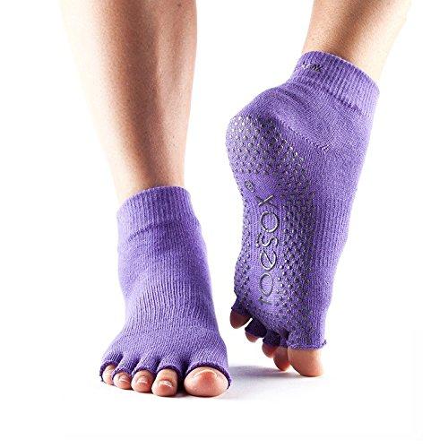 Yoga Mad–mitad Dedos Calcetines, hombre, color violeta claro, tamaño medium