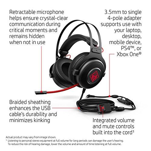 HP Omen 800 Headset (Black) Image 7