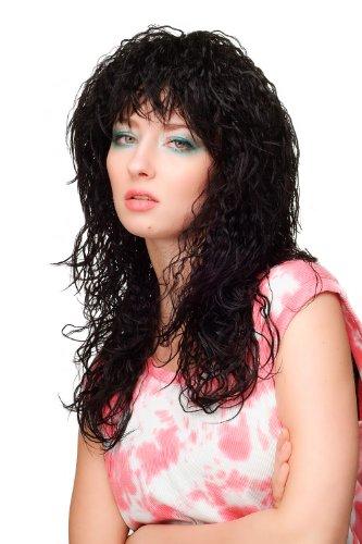 Wig me up – Damenperücke Perücke Vamp wilder Karibik Kinks Locken Wetlook Schwarz lang Voluminös 50 cm WL-2317-1B