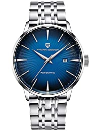 ba525995eccc Pagani Design Reloj Automático Hombre - Reloj Impermeable para Hombres con  Correa De Acero Inoxidable -