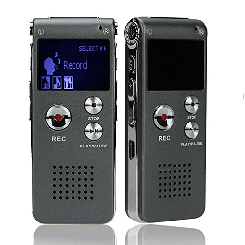Gosear 8GB mini USB Digitale Voce Registratore 650Hr Dittafono MP3 Giocatore