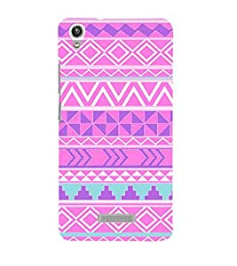 Multi Shape Pattern 3D Hard Polycarbonate Designer Back Case Cover for Lava Iris Pixel V1