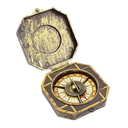 Karibik Piraten gelbgolden Kompass Maskenkostüm Requisit (Requisiten Piraten)