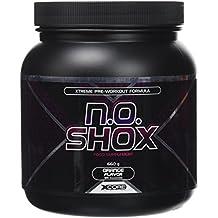 N.O Shox Extreme Workout Pumps Powder 660g de Xcore - Impulsor de Fuerza y Energía - Sabor a Naranja, 26 Dosis
