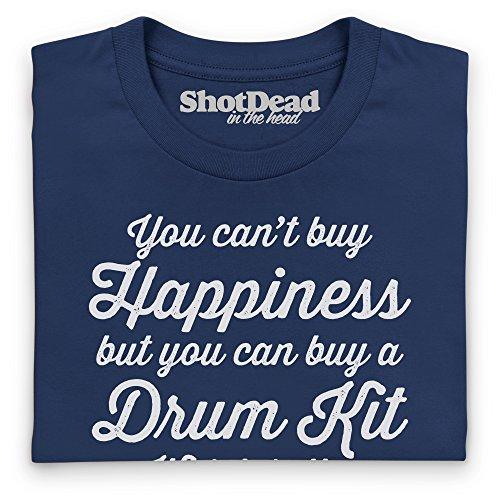 Happiness Is A Drum Kit Langarmshirt, Herren Dunkelblau