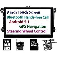 Panlelo® PA-VW90, para Volkswagen 9 pulgadas HD Pantalla Táctil Head Unit Navegación GPS Android 5.1 Radio Estérea de Coche Incorporado Bluetooth FM WIFI para Bora Jetta Tiguan Golf Polo