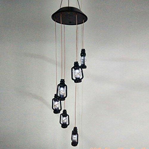 Kontrolle Aufhellung (zantec Deko Lampe Solar Powered Farbwechsel Wireless Wind Chimes LED-Licht Outdoor Garten Balkon Decor)