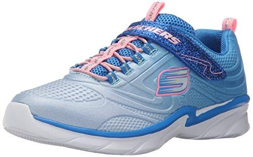 Skechers Swirly Girl Shine Vibe, Baskets Basses Fille Bleu (Bleu/Rose)