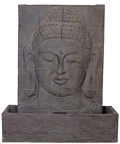 korb.outlet Buddha Wasserlauf Steinguss/Angkor Watt Brunnen für Haus und Garten (Indoor & Outdoor)