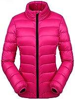 Valuker Damen Daunenjacke 90% Daunen Winter Jacke Stehkragen Winterjacke Ultra leicht NVDLL01
