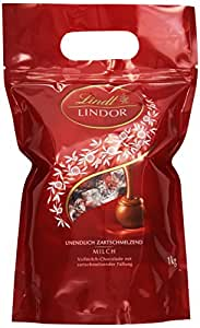 Lindt & Sprüngli Lindor Kugeln Vollmilch 1kg, 1er Pack
