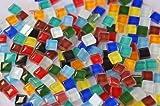 220 Stück Glas Mosaiksteine (Soft-Glas) 1x1cm Buntmix ca. 180g