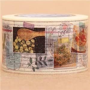 Nastro adesivo decorativo Washi libro di ricette di mt