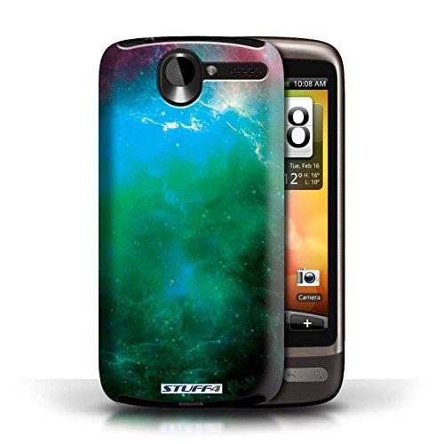 Kobalt® Imprimé Etui / Coque pour HTC Desire G7 / Éclipse Pourpre conception / Série Cosmos Nébuleuse Verte