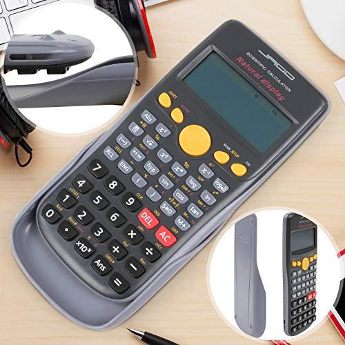 Taschenrechner - mit 272 Funktionen, LCD-Display mit 3-zeiliger Anzeige, Batteriebetrieben - Schulrechner, Calculator, Bürorechner, Rechner