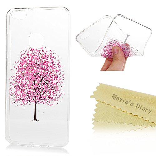Mavis's Diary Case für Huawei P10 Lite TPU Case Schutzhülle Aufdruck Muster Bumper Handycover Durchsichtig Handyhülle Pflaumenbaum