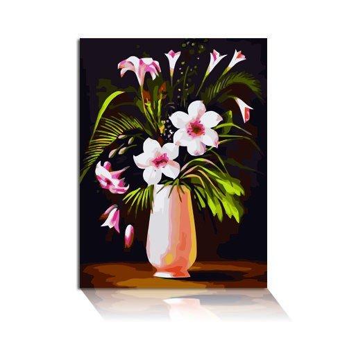 Mypaintlab Vase mit Lilien Malen nach Zahlen (40 x 50 cm)