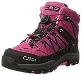 CMP Rigel Mid Wp Unisex-Kinder Trekking-& Wanderschuhe, Pink (Pink Fluo-Asphalt), 30 EU