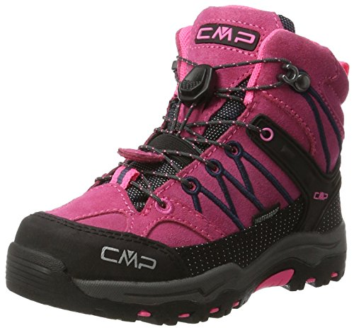 CMP Rigel Mid Wp Unisex-Kinder Trekking-& Wanderschuhe, Pink (Pink Fluo-Asphalt), 33 EU