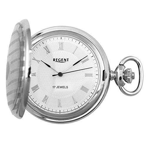 Regent - Taschenuhr - Mechanisch - Silber - Römisch - P122