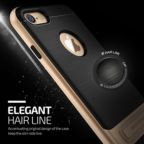 VRS Design Handy-Hülle High Pro Shield Edition | Apple iPhone 7 Plus | TPU / Polycarbonat in Rose Gold | Zubehör Case Cover Schale Bumper Shine Gold