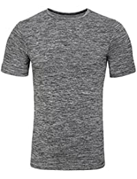 Sundried Men's Muscle Fit Athletic Gym T-Shirt Seamless Activewear