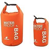 MaMaison007 Rafting Bolsa Impermeable Bolso Seco Bolsa Estuche Para Kayak Camping -2L Naranja