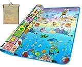 Gutsbox Tappeto Ripiegabile con Animali Tappeto Bambini Tappeto Puzzle Bambini Giochi per Cameretta Bambini Tappetino, Pavimento Antitrauma Tappeto Gioco (Oceano, 180_x_200_cm)