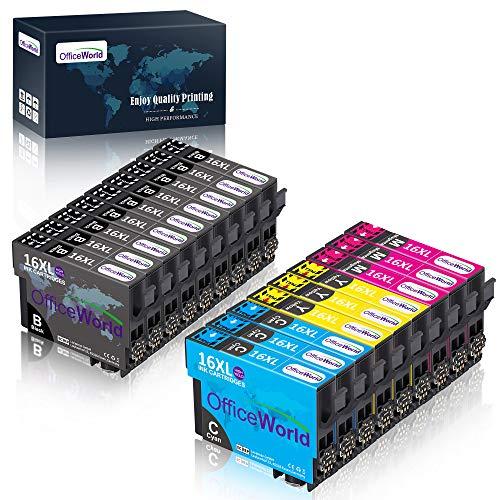 OfficeWorld Ersatz für Epson 16 16XL Druckerpatronen Hohe Kapazität Kompatibel für Epson Workforce WF-2630 WF-2760 WF-2660 WF-2510 WF-2530 WF-2540 WF-2010 WF-2650 WF-2520 WF-2750