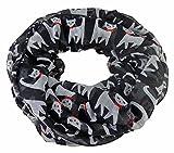 Loop Halstuch Katze Schleifchen (schwarz weiss)