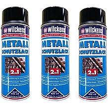 e1701c8543b28 3 x WILCKENS 400ml Metall Schutzlack Spray 2in1 Rostschutz schwarz
