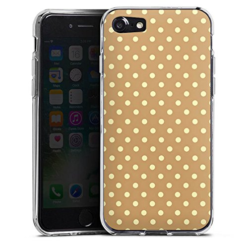 Apple iPhone X Silikon Hülle Case Schutzhülle Punkte Muster Polka Silikon Case transparent