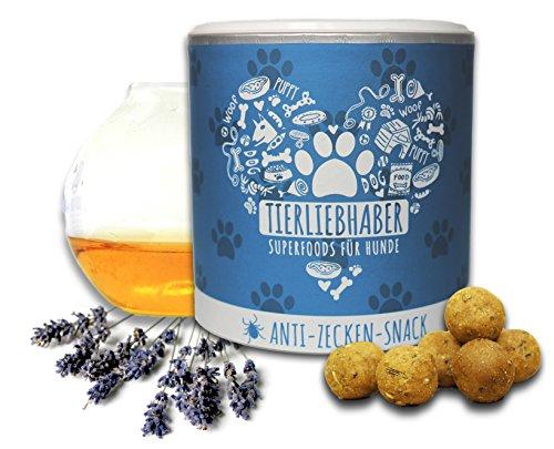 TIERLIEBHABER Anti-Zecken-Snack (350g) | Zeckenschutz und Flohschutz für Hunde| kaltgepresst + rein natürlich | Für Welpen geeignet
