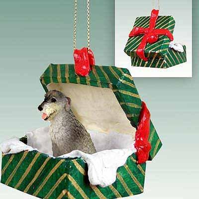 Irish Wolfhound Boîte Cadeau Vert Décoration pour chien