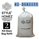 #2: Style Homez 2 Kg High Density Bean Bag Refill for Bean Bags