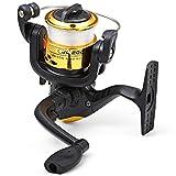 Hemore, Moulinet de pêche JL200 à 3 roulements à billes 5,2/1 avec fil de pêche transparent
