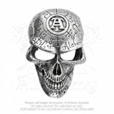 Alchemy Gothic (Metal-Wear) Omega Skull Belt Buckle