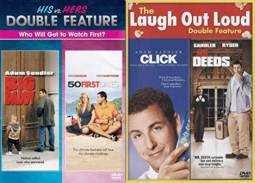 First Hers & Then His Fall in Love Adam Sandler 4 Film-Pack-DVD Big Daddy & 50 First Dates + MR. Deeds Comedy Feature Click Collection Set