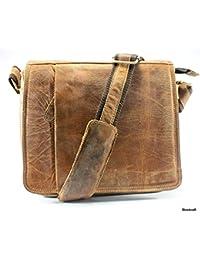 Stonkraft 100% Genuine Leather Unisex Cross Body Bag / Cross Shoulder Bag / Office Bag | Messenger Bag.