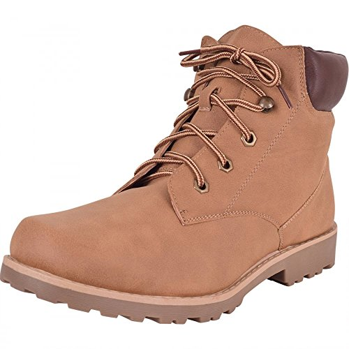 Mens-Premium-6-Lace-Up-Boots-Shoes-Tan-Brown-Sand-Hiking-Walking-Chukka-Worker-Combat-Military-High-Tops