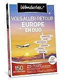 wonderbox - coffret cadeau - vol aller/retour europe pour 2 personnes
