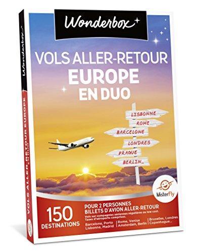 Wonderbox - Coffret cadeau voyage - VOLS ALLER/RETOUR EUROPE EN DUO: 150 destinations...
