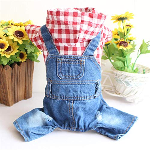Funnyrunstore Fashion Cute Dog Denim Dress Skirt Summer Luxury Principessa Pet Vestiti Dog Harness Dress Pet Vestiti Confortevole Respirabile (2#; M)