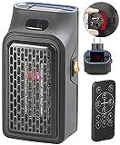 Sichler Haushaltsgeräte Handy Heater: Mini-Steckdosen-Heizlüfter mit Timer & Fernbedienung, 2-stufig, 500 W (Mini Heizer)