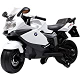 Toy House Officially Licensed BMW K1300S Bike 12V Rechargeable Battery Operated Ride On Bike For Kids (2 To 4Yrs) White