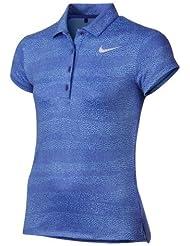 Nike 848603-452 Camiseta Polo de Manga Corta de Golf, Niña, Azul, L