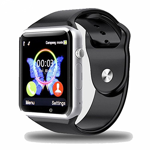 Smartwatch Padgene 2017 Nuovo Modello A1 Orologio da polso Fitness Bluetooth con Touch Screen. Fotocamera con Slot per SIM Card 2.0. Supporta Schede TF per IOS Android Samsung Huawei Xiaomi Sony LG HTC Iphone7/6s/6/5s/5